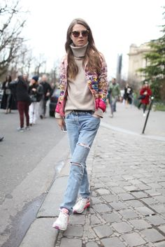 Paris fashion week. #streetstyle boyfriend jeans, fashion weeks, paris fashion, street style, week street, pari fashion, wear