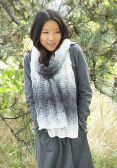 Ripples go ladylike in this Lofty Ripple Scarf. Lace details give this scarf a delicate, feminine feel. Shown in Patons Lace.