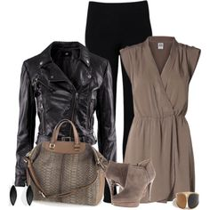 """Toned Taupe"" by chelseagirlfashion on Polyvore"