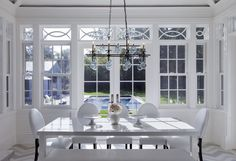 conservatory style dining nook.