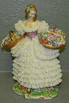 Dresden porcelain lace figurine