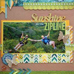 Sunshine On The Zipline Scrapbook Layout #scrapbook