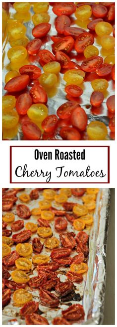 These easy oven roasted tomatoes are a great way to preserve summer. You can freeze them and they're great in salads, soups and pastas! mountainmamacooks.com