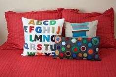 Fun felt pillows.