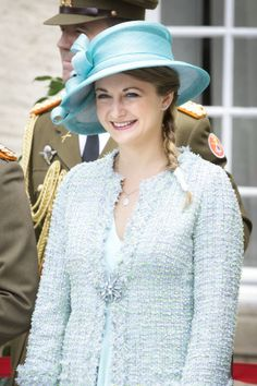 Hereditary Grand Duchess Stéphanie, June 23, 2013 | The Royal Hats Blog | The Luxembourg Royal Family celebrated their country's National Day this weekend.