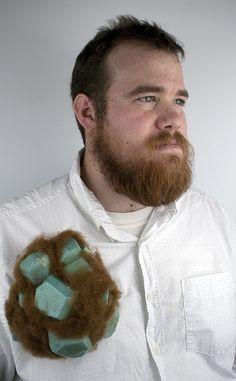 NICK MULLINS-USA - Hairy Brooch (not only the brooch ! ;-)) - Foam, resin, felt