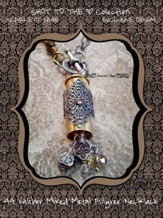 Bullet Jewelry Necklace Bullet Casing Necklace by ScarlettSage, $38.50