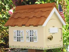 Cottage Mailbox by Mailmansions yellow with by MailmansionsAndMore, $115.00