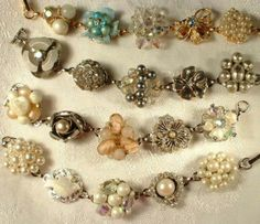 Bracelets made from vintage clip on earrings