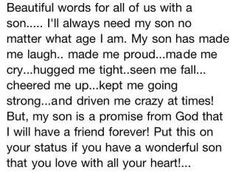 Love for a son. life, stuff, famili, sons, inspir, boy, quot, thing, kid
