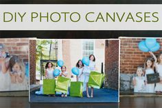 DIY Photo Canvases {101 Days of Christmas at lifeyourway.net}