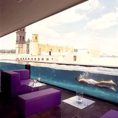 Rooftop Bar with a pool