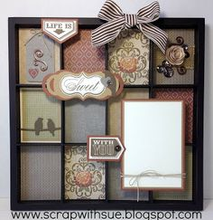 Display Tray by Sue Nielson using CTMH Huntington paper