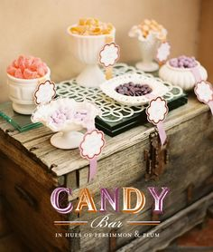 milk glass, candi candi, rustic candi, shower, vintage candy, candy desserts, candi bar, plum, parti