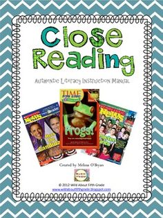 Get your students closely reading and writing about text!  This product outlines for teachers how to implement close reading authentic literacy instruction in the classroom. Soon your students will be able to closely read text, highlight key ideas, take annotative notes, form opinions, debate, cite evidence, and write persuasively! $