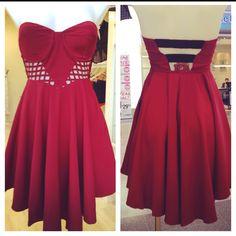 A Thousand Hearts dress $59. Maroon is back again this season