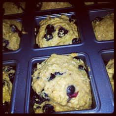 mini whole-grain blueberry coffee cakes - a tasty recipe lightened up!