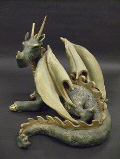 Clay Dragon made by a Ashley French in Art I.