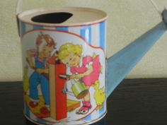 Child's Vintage Tin Watering Can by U.S. Metal Toy