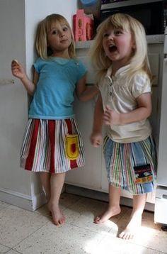 Dollar Store Crafts » Make a Pocketed Tea Towel Skirt
