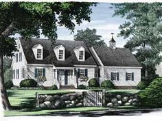 Colonial / Cape Cod House Plans | Exterior Design External walls of classic Cape Cod houses are covered with unpainted shingles or clapboarding. After prolonged exposure to natural elements, the wood obtains an earthy gray color. The houses usually lack front porches, although modern Capes sometimes include screened-in porches located to one side of the home. The decorative highlight of Cape Cod homes is the front door, which is painted in distinct colors, bears an ornament or wreath, and has...