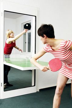 Designed by Tobias Fränzel, this innovative door turns into a ping pong table when needed. After the game is finished, it goes back to being a regular door.