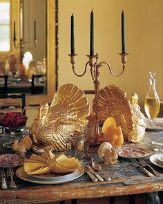 martha stewart thanksgiving green burlap table runner - Google Search