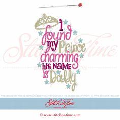 6105 Sayings : I Found My Prince Charming 5x7