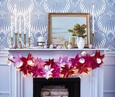 DIY Holiday Paper Decorations from @House & Home - (downloadable templates) - Author: @Sarah Hartill  Photographer: Michael Graydon