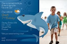 Shark Pool Party Invitation. $24.00, via Etsy.