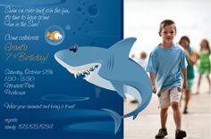 Shark Pool Party Invitation. $24.00, via Etsy.
