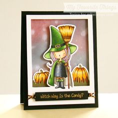 STAMPARADISE: MFT New Stamp set : Witch Way Is the Candy?