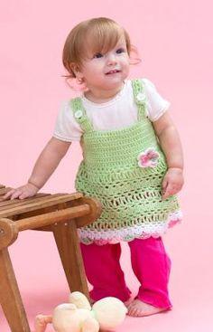 Peapod Baby Sundress Free pattern by RedHeart.com