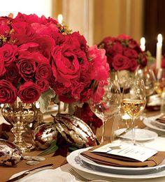 Valentine's day tablescape ~ red & silver