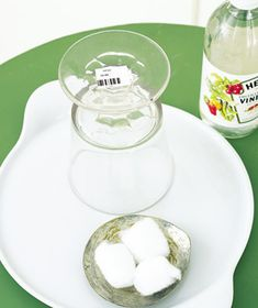 Vinegar as Sticker Remover - Dislodge a stubborn price sticker. Paint with several coats of vinegar, let it sit for five minutes, then wipe away.