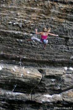 "Big falls are to be expected, Sasha Digiulian comes off ""The Madness"" 5.13c"