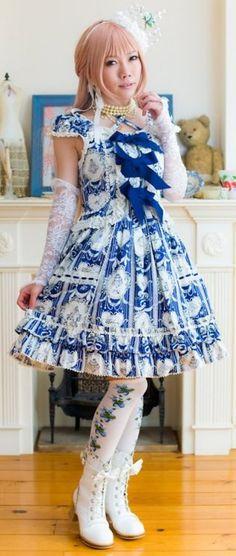Traditional Lolita Blue & White