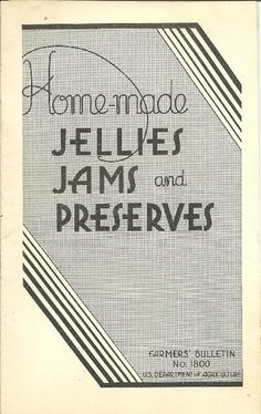 1940's Homemade Jellies Jams and Preserves by TheIDconnection, $10.00