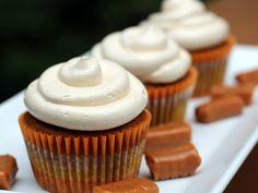 Pumpkin Cupcakes with Salted Caramel Buttercream