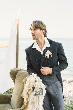 outfits, beaches, inspir photoshoot, groom outfit, bouquets, wedding shoot, beach weddings, oceansid shoot, grooms