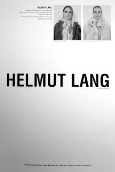 helmut lang ad // great letterhead idea.