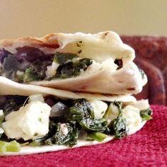 Spinach-and-Feta Quesadillas recipe