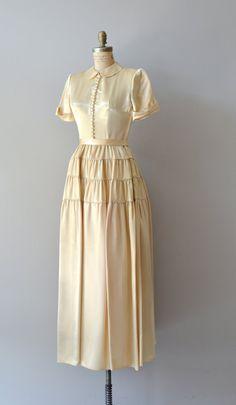 1940s wedding dress / vintage 40s dress / by DearGolden on Etsy, $625.00