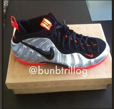 Nike Air Foamposite Pro Silver/Crimson [September 2012 Release]