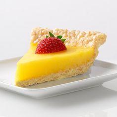 Marshmallow Crispy Lemon Pie -- Jell-O via Recipe.com (make sure all ingredients are GF)