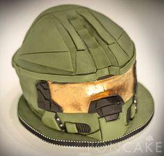 Halo Cake - Helo Helmet Cake - Torta de Halo - Torta de Casco de Halo
