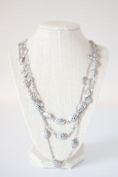$22 Hammered Pebbles Necklace