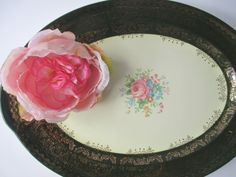 Vintage Taylor Smith Taylor Green Pink Floral by thechinagirl, $22.50