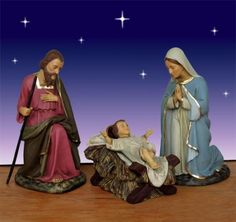 "Holy Family (39"") - 54"" scale Outdoor $1,199.00 Holy Family beautifuly and elegantly crafted. This Holy Family is part of the 54"" scale Bay Design Collection of Outdoor Nativity figures. http://www.christmasnightinc.com/c39/c260/Holy-Family-39-54-scale-Outdoor-p998.html#"