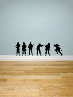 Army Soldiers wall decals